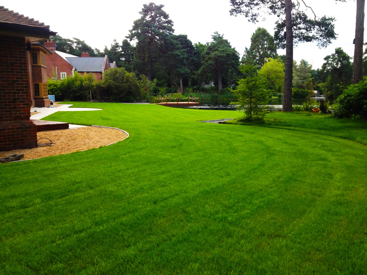 Abbey Turf garden turfing